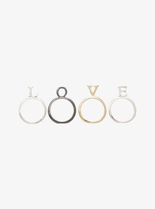 Torrid Love Mixed Metal Stacked Ring Set