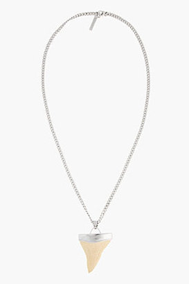 Givenchy Gold Textured Large Shark Tooth Necklace