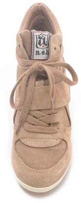 Ash Bowie Suede Sneakers with Hidden Wedge