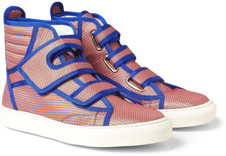 Raf Simons Patterned High Top Sneakers