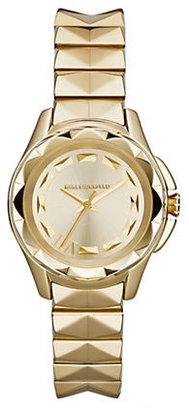 Karl Lagerfeld Gold-Tone Pyramid Stud Bracelet Watch