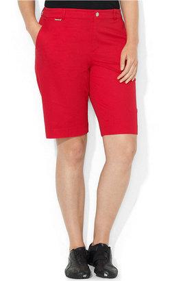 Lauren Ralph Lauren Plus Size Shorts, Stretch Bermuda