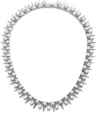 Noir Crystal Spike Necklace