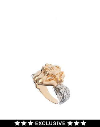 Asos Bill Skinner Exclusive To Thoughtful Cherub Ring