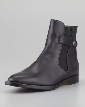 Manolo Blahnik Trudipla Chelsea Ankle Boot, Black