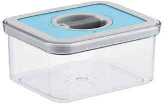 Container Store .8 qt. Rectangle Perfect Seal™ Canister Teal Lid