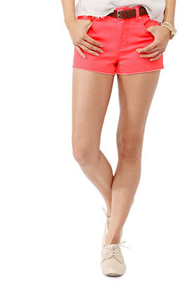 Forever 21 High-Rise Neon Shorts Belt