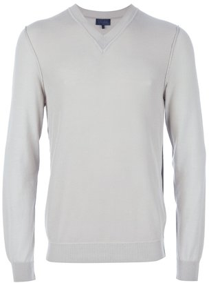 Lanvin perforated v-neck shirt