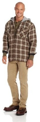 Wrangler Men's Riggs Workwear Hooded Flannel Work Jacket
