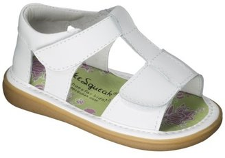 Toddler Girls' Wee Squeak T-Strap Sandals - White