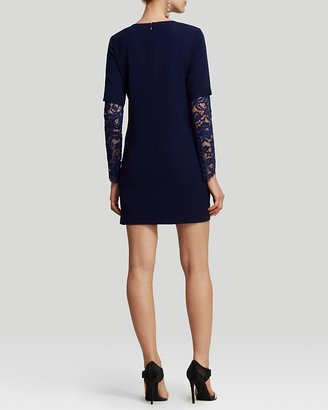 Cynthia Steffe Dress - Jolie Crepe and Lace Sleeve Shift