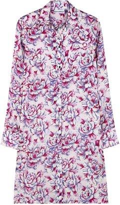 Paco Rabanne Floral-print Satin Shirt Dress