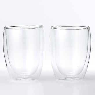"Bodum Pavina"" Double-Wall Cooler Glasses, Set of 2"