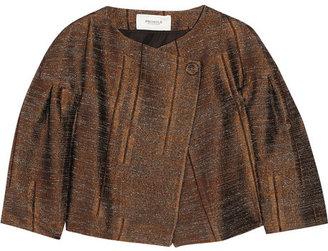 Pringle Textured satin-twill jacket