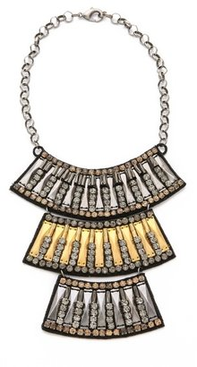 Deepa Gurnani Panel Layered Necklace