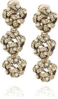 Oscar de la Renta Triple-knot embellished earrings