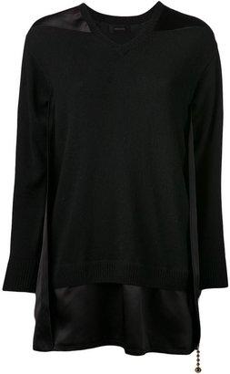 Undercover silk panel blouse