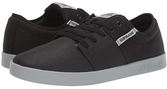 Supra Stacks II (Light Grey Tuf/White) Men's Skate Shoes
