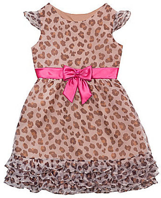 Rare Editions 7-16 Animal-Print Dress