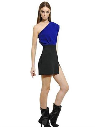 Ungaro Wool Crepe & Silk Cady Mini Dress