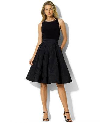 Lauren Ralph Lauren Pleated Cocktail Dress $198 thestylecure.com