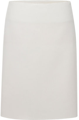 Calvin Klein Collection White Double Faced Jersey Pencil Skirt