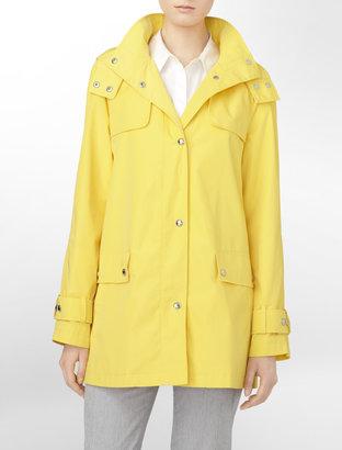 Calvin Klein Packable Button-Front Raincoat