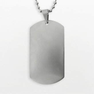 Stainless steel dog tag - men