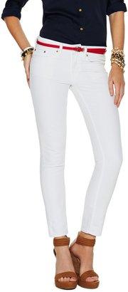 C. Wonder Cropped White Stretch Skinny Jean