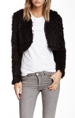 Vertigo Faux Fur Cropped Shrug