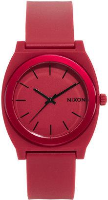 Nixon Time Teller P Dark Red Watch