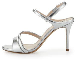 Giorgio Armani Asymmetric Metallic Strappy Sandal