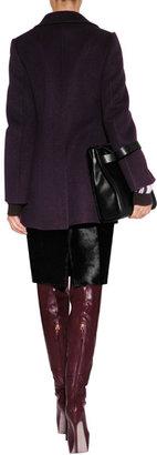 Jil Sander Cashmere Polanski Coat in Deep Violet