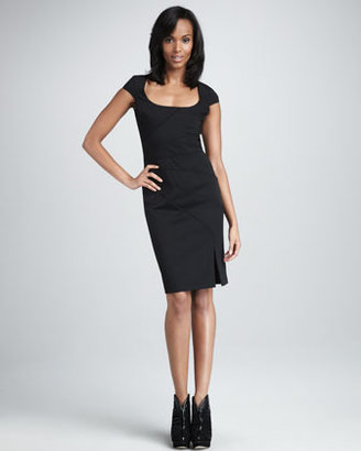 Black Halo Sorel Cap-Sleeve Dress