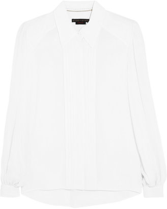 Alice + Olivia Silk-blend crepe de chine blouse