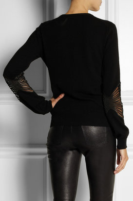 Christopher Kane Cashmere and macramé lace sweater