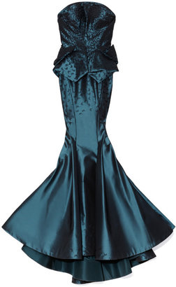 Zac Posen Preorder Butterfly Taffeta Strapless Gown