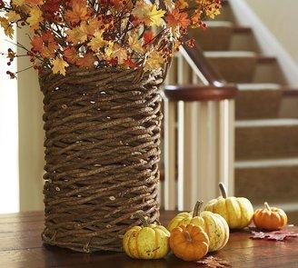 Pottery Barn Mila Basket Vase