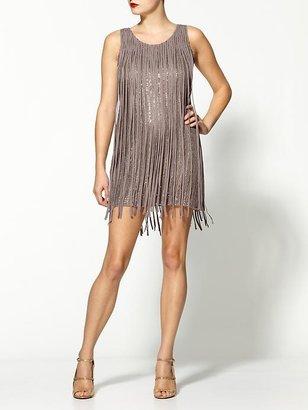 Parker Fringe Covered Silk Sequin Dress