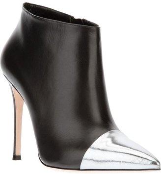 Gianvito Rossi contrast toe cap stiletto boot