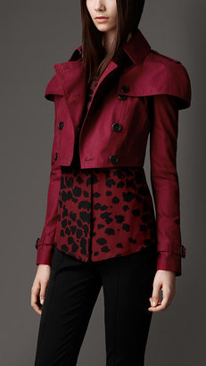 Burberry Cropped Caped Trench Jacket