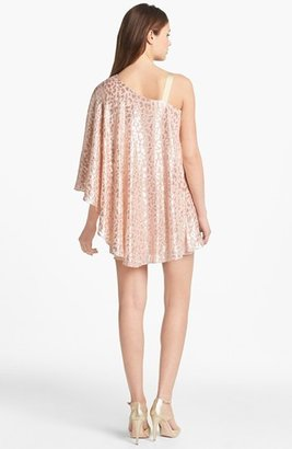 Erin Fetherston Erin by Metallic Print Overlay Silk Dress