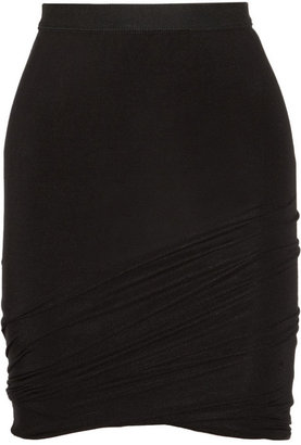 Alexander Wang Ruched jersey mini skirt
