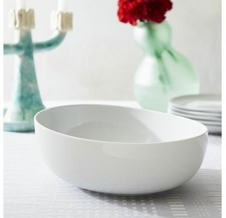 Crate & Barrel Como White Large Serving Bowl