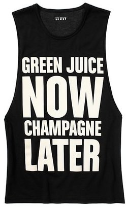 Juicy Couture Green Juice Now, Champagne Later Tank