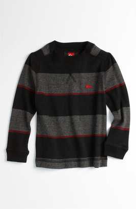 Quiksilver 'Snit' Stripe Sweater (Toddler) Black 4T
