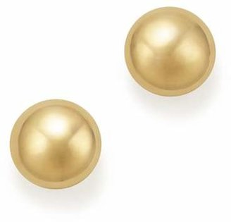 Bloomingdale's 14K Yellow Gold Flat Ball Stud Earrings - 100% Exclusive