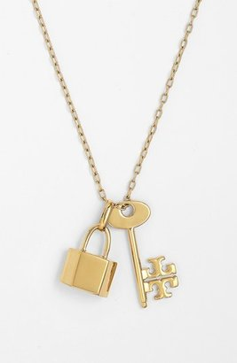 Tory Burch 'Riley' Cluster Pendant Necklace Gold