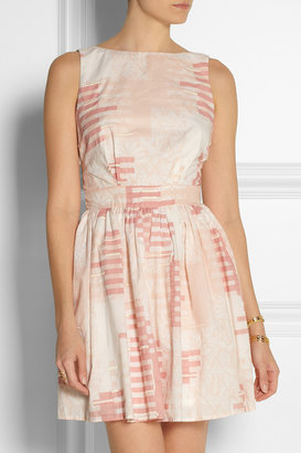 Thakoon Backless embroidered printed cotton dress
