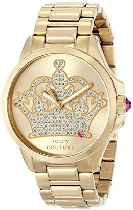 Juicy Couture Women's 1901149 Jetsetter Analog Display Quartz Gold Watch $164.18 thestylecure.com